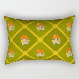 Retro Mushrooms Rectangular Pillow