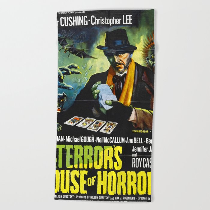House Of Horrors Vintage Horror Movie Poster Doctor Terror S Beach Towel