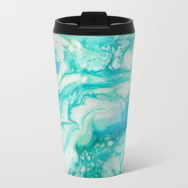 Mermaid Wake - Golden Dream Caribbean Resin Art Series by Amanacer Travel Mug