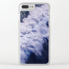 Blue Ocean Waves, Sea Photography, Seascape Clear iPhone Case