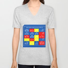 MODERN FASHIONABLE CARRIAGES AND VEHICLES IN GENERAL USE. II Unisex V-Neck
