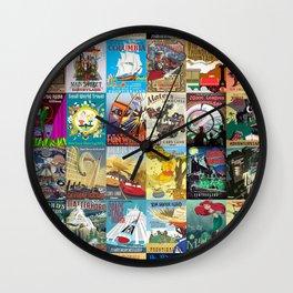 Amusement Rides Wall Clock