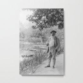 Claude Monet a Giverny Metal Print