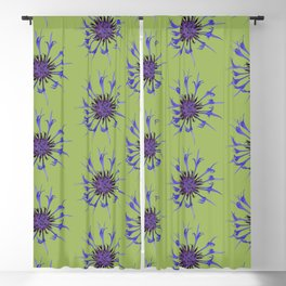Thin blue flames in a sea of green Blackout Curtain