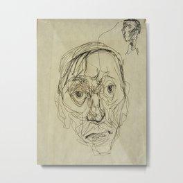 Double Faces uncropped, art Metal Print