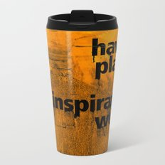 Have a plan B. Inspiration wears off. A PSA for stressed creatives. Metal Travel Mug