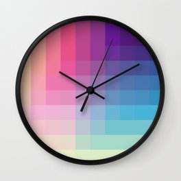 Tsuchinoko - Colorful Decorative Abstract Art Pattern Wall Clock