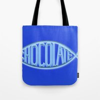 chocolate Tote Bags featuring Chocolate by Sebastián Arango Guerrero