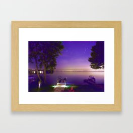 Lake Simcoe start nights Framed Art Print