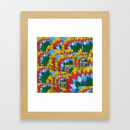made from painted math book draft pages Framed Art Print