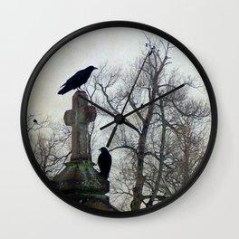 A Gatherng Of Crows Wall Clock