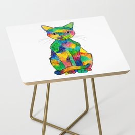 Rainbow Cat Side Table