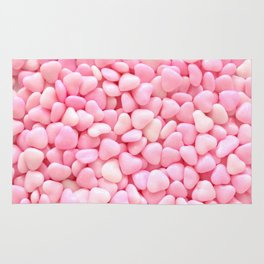 Pink Candy Hearts Rug
