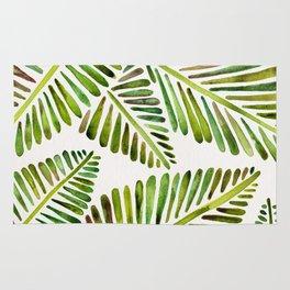 Tropical Banana Leaves – Green Palette Rug