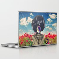 afro Laptop & iPad Skins featuring Afro Heartbeat by Collage Calamity