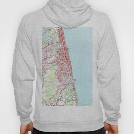 Vintage Map of Virginia Beach (1965) 2 Hoody