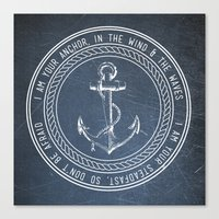 anchor Canvas Prints featuring Anchor by Zeke Tucker