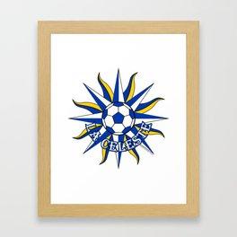 Uruguay La Celeste (The Sky Blue) ~Group A~ Framed Art Print