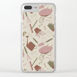 A Day in the Garden - Rose Clear iPhone Case