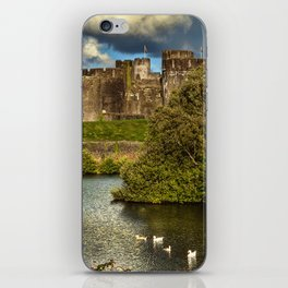 Caerphilly Castle Western Towers iPhone Skin