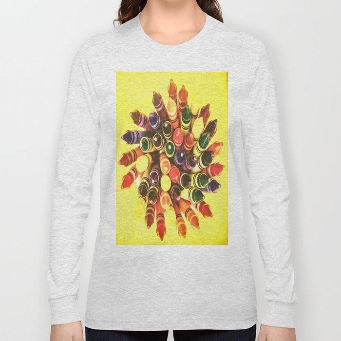 Crayon Love: Crayon Bouquet Long Sleeve T-shirt
