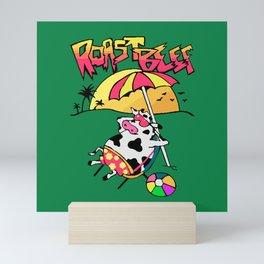 Roast Beef Dustin Cow On Sun Mini Art Print