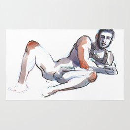 ANDRE, Nude Male by Frank-Joseph Rug