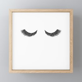 Lashes Black Glitter Mascara Framed Mini Art Print