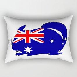 Australian Flag - Chinchilla Rectangular Pillow