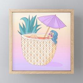 Pineapples in my head Framed Mini Art Print