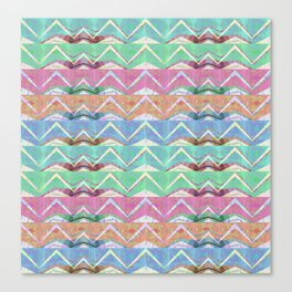 Vintage Mountain Abstract Geometric Canvas Print