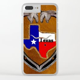 TEXAS PRIDE Clear iPhone Case