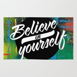 Color Chrome - believe in yourself graphic Rug