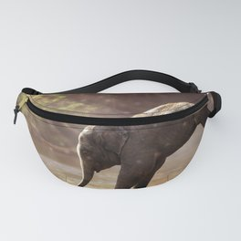 Baby Elephant & Mama at Watering Hole Fanny Pack