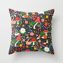 Wandering in Wonderland Throw Pillow