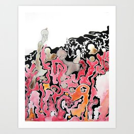 A Wine Mishap Art Print