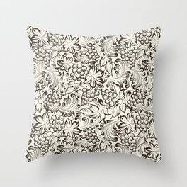 Vine seamless background Throw Pillow