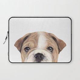 Bulldog Original painting Dog illustration original painting print Laptop Sleeve