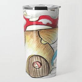Mushroom in the Snow Travel Mug