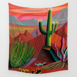Gila River Landscape Wall Tapestry