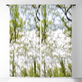Watercolor trees photography Blackout Curtain
