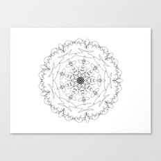 mandala - women's march 2017 Canvas Print