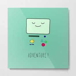 Adventure! BMO Metal Print