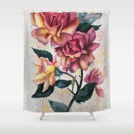 Fresh Tea Roses Shower Curtain