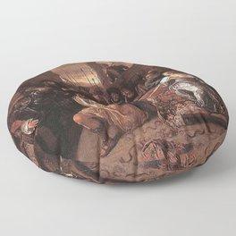 Jan Steen - Samson Mocked by the Philistines Floor Pillow