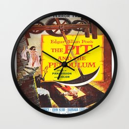 Vintage poster - The Pit and the Pendulum Wall Clock