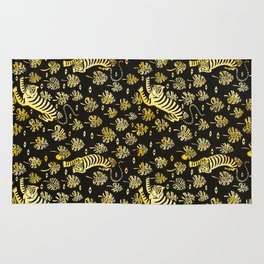 Tiger jungle animal pattern Rug