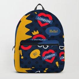 Crazy London Pattern Backpack