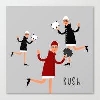 rush Canvas Prints featuring Rush! by Natallia Pavaliayeva