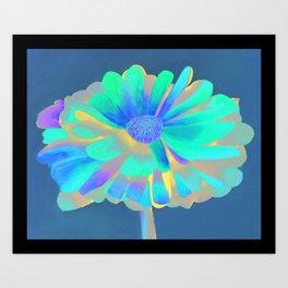 Calendula Flower: Neons Art Print